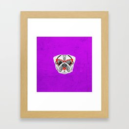 Lady Pug Framed Art Print