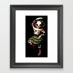 Skeleton Dance Framed Art Print