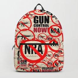 No Guns Anti-gun Violence Protest Design on Journal Backpack