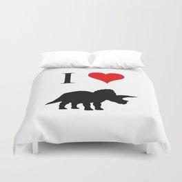 I Love Dinosaurs - Triceratops Duvet Cover