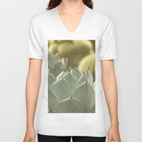cactus V-neck T-shirts featuring Succulent by Pure Nature Photos