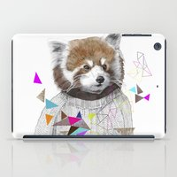 kris tate iPad Cases featuring RED PANDA by Jamie Mitchell and Kris Tate by Kris Tate