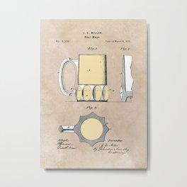 patent Beer Mugs Metal Print