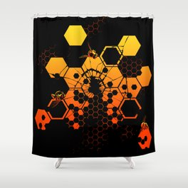 Existential Threat Shower Curtain