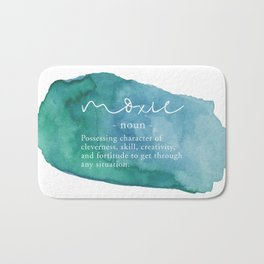 Moxie Definition - Blue Watercolor Bath Mat