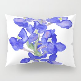 Bluebonnet Watercolor Pillow Sham