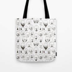 Moustaches and Beards Tote Bag