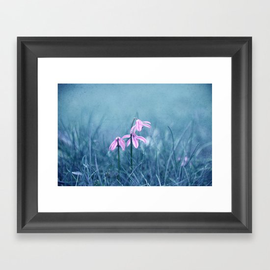 blue meadow Framed Art Print
