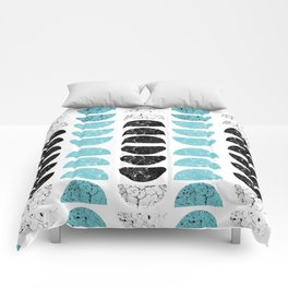 Marble Half-Moons in Tiffany Blue Comforters