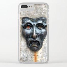Sad Face Clear iPhone Case