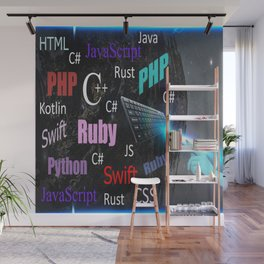 Programming languages Wall Mural