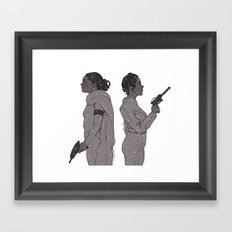 In a Galaxy Far Far Away Framed Art Print