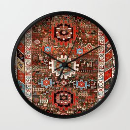Shahsavan Azerbaijan Northwest Persian Rug Print Wall Clock