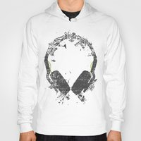 deadmau5 Hoodies featuring Art Headphones V2 by Sitchko Igor