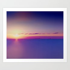 Sunset on the Atlantic Ocean Art Print
