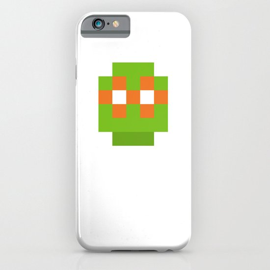 hero pixel green orange iPhone & iPod Case