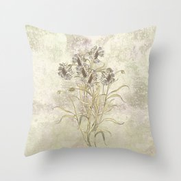 The flowers are singing Throw Pillow