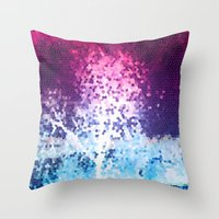 mosaic Throw Pillows featuring MOSAIC by INA FineArt