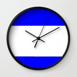 Flag of salvador 4 - salvador,Salvadoran,San Salvador,salvadoreño,Guanaco. Wall Clock