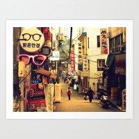 seoul Art Prints featuring Seoul #1 by MysticJin
