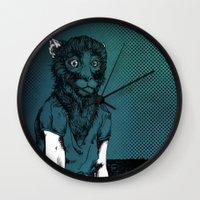 monkey Wall Clocks featuring Monkey by Merwizaur