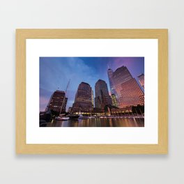 Sunset at Brookfield Place in Battery Park 2017 Framed Art Print