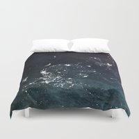 asia Duvet Covers featuring Asia UpsideDown by Marco Bagni