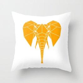 Yellow Elephant Throw Pillow