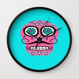Dia De Los Muertos Sugar Skull - Angel Wall Clock