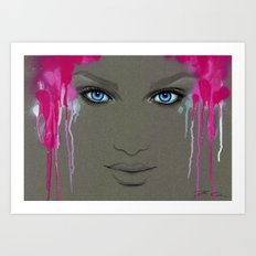 -Hypnotic Eyes- Art Print