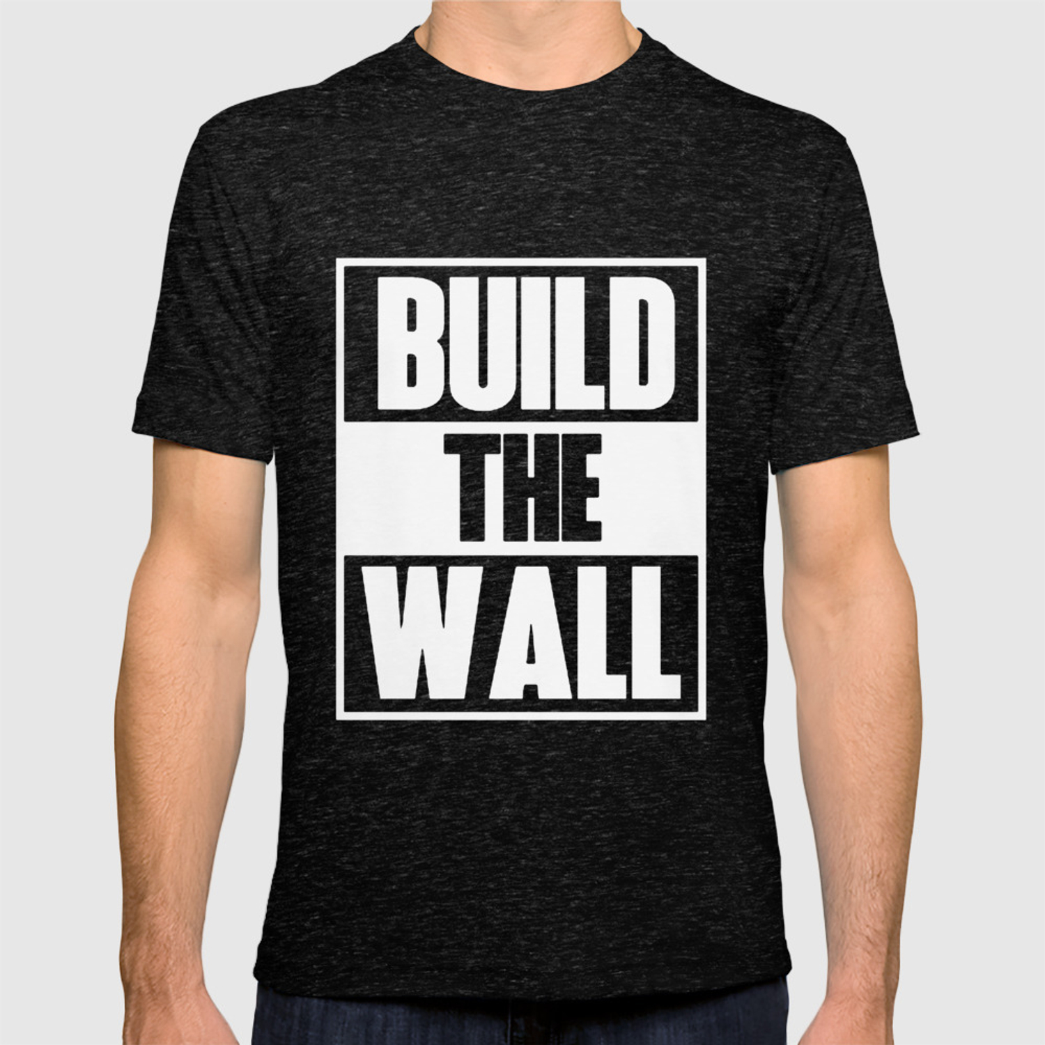 06b26e71eb76 Build The Wall Political Tee Donald Trump President Funny Gift Humor trump T -shirt. by