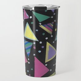 Triangle Abstract Design. Travel Mug