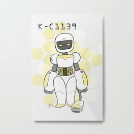K-C Robot Metal Print