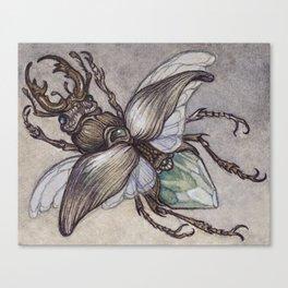 Crystal Beetle Canvas Print
