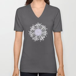 Complicated Flower XII Unisex V-Neck