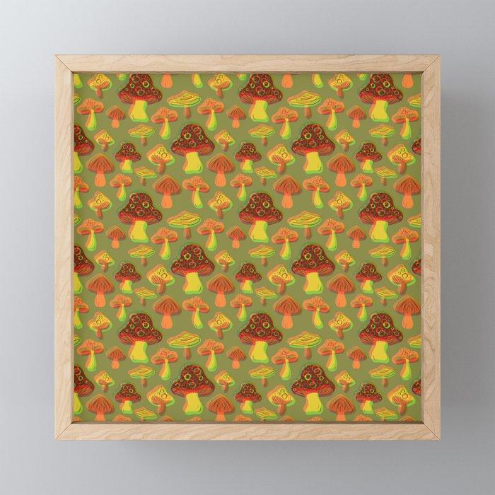 Mushroom Print in 3D Framed Mini Art Print