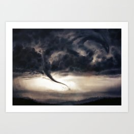 Tornado Dragon Art Print