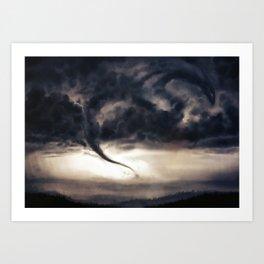 Tornado Dragon Art Print