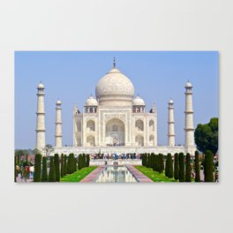 The Taj Mahal India Canvas Print