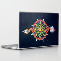 chakra Laptop & iPad Skins featuring Muladhara Chakra by DiskoGalerie