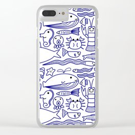 Lines Under the Sea Clear iPhone Case