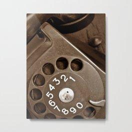 .incoming call. Metal Print