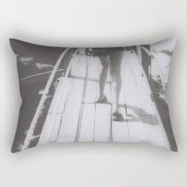 the unhurried walker Rectangular Pillow
