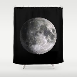 The Full Moon Super Detailed Print Shower Curtain