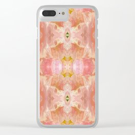 151 - abstract floral pattern Clear iPhone Case