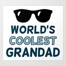 World's Coolest Grandad Art Print