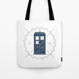 Badge inspired by Doctor Who's TARDIS  Tote Bag
