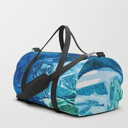 Deep Blue Ocean Life Duffle Bag