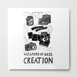 Weapons Of Mass Creation - Photography (blockprint) Metal Print