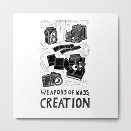 Weapons Of Mass Creation - Photography (blockprint) Metal Print